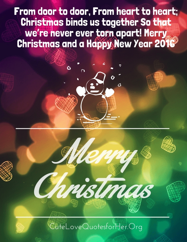 merry christmas love quotes 2016 for her him hug2love