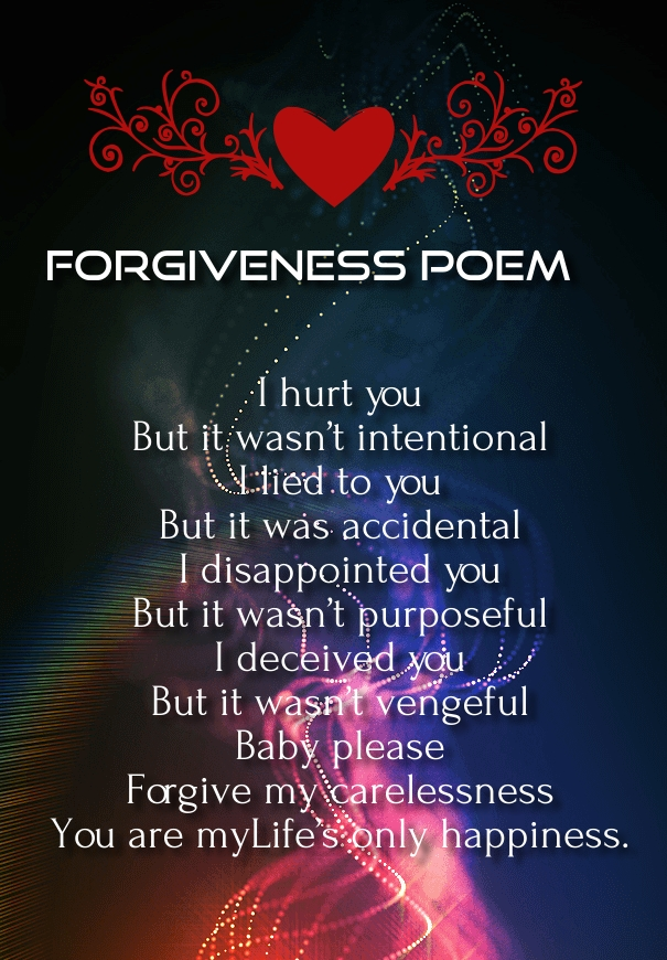 Top 9 Forgive Me Poems For Her And Him   Hug2Love