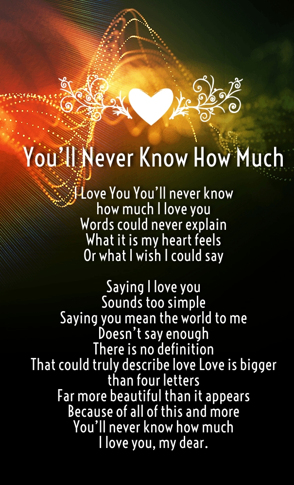 How Much I Love You Poems for Her