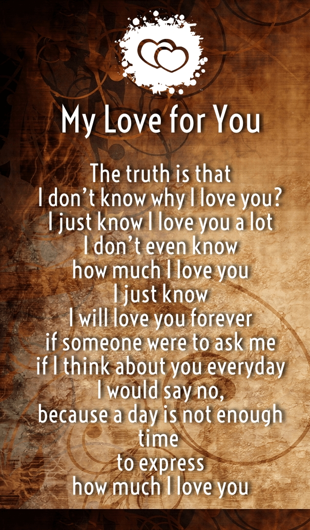 I Love You Quotes And Poems For Her : How Much I Love You Poems for Her and Him - Hug2Love