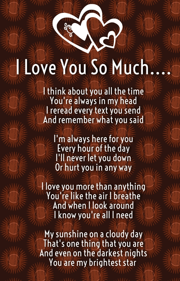 I Love You Quotes And Poems : How Much I Love You Poems for Her and Him - Hug2Love