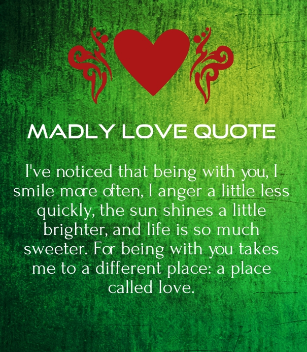 Love Images With Quotes For Her : Madly in Love Quotes for Him and Her - Hug2Love