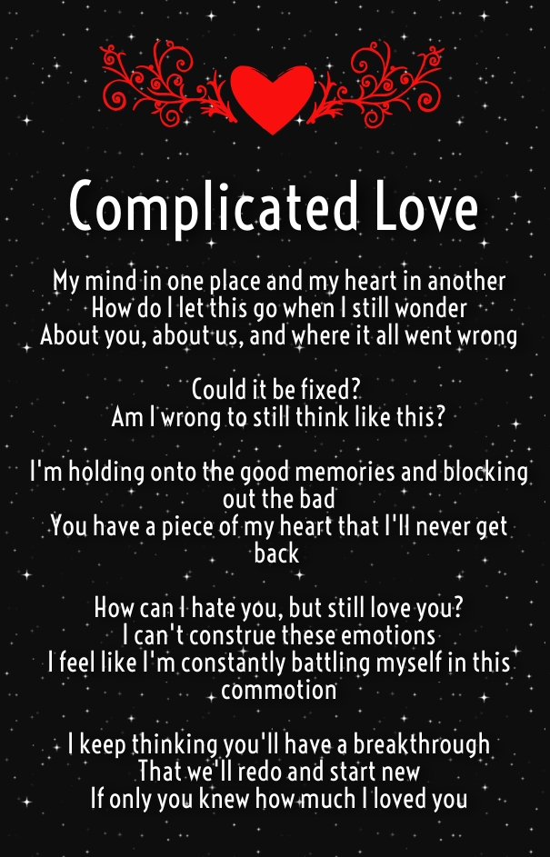 Complicated love poems for complex relationships hug2love