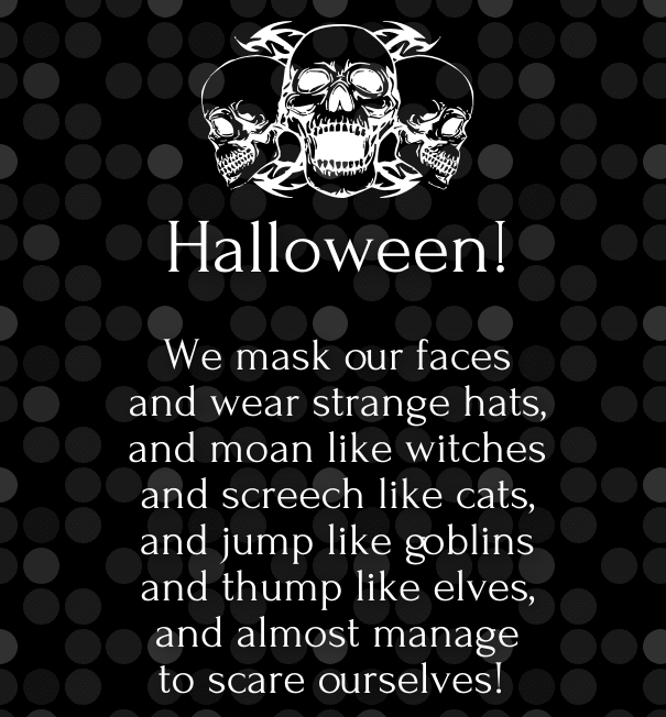 cute halloween poems