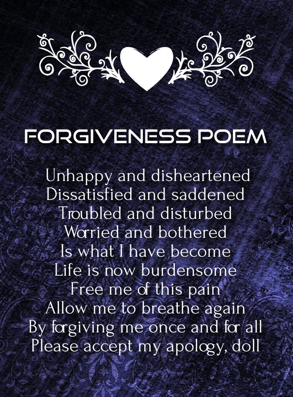 forgive me poems for him