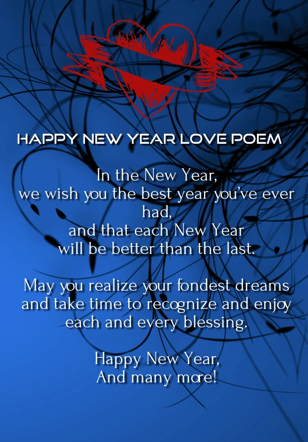 Happy New Year 2018 Love Poems with Images - Hug2Love
