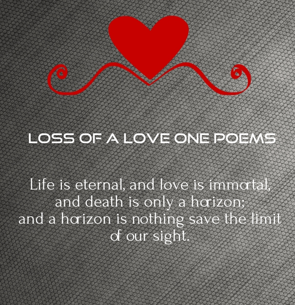 poems about death of a loved one