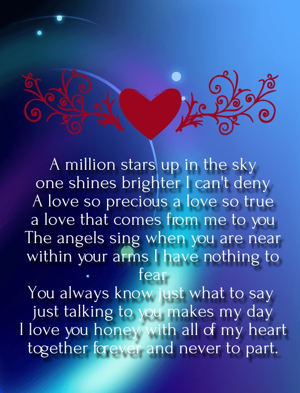 What is love poem for him