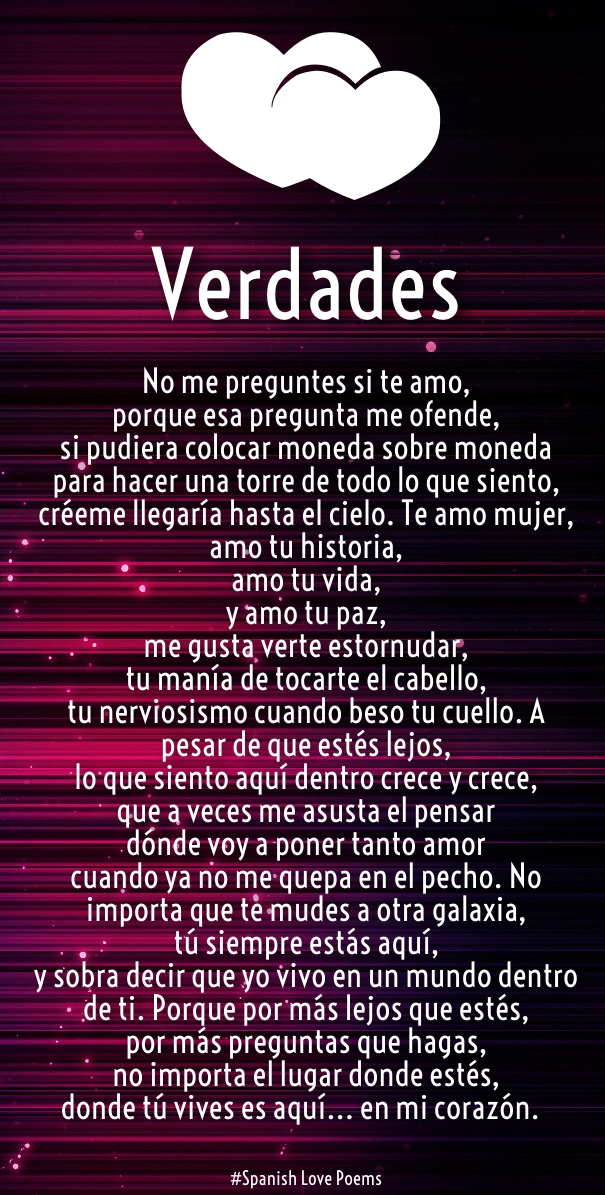 Love Quotes In Spanish For Him With Translation : Spanish Love Quotes and Poems for Him / Her - Hug2Love