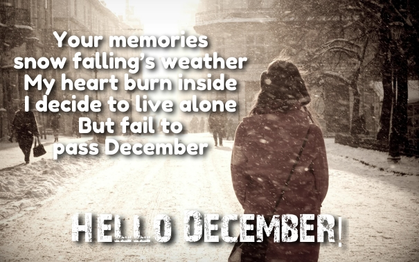 Welcome december quotes and images hug2love