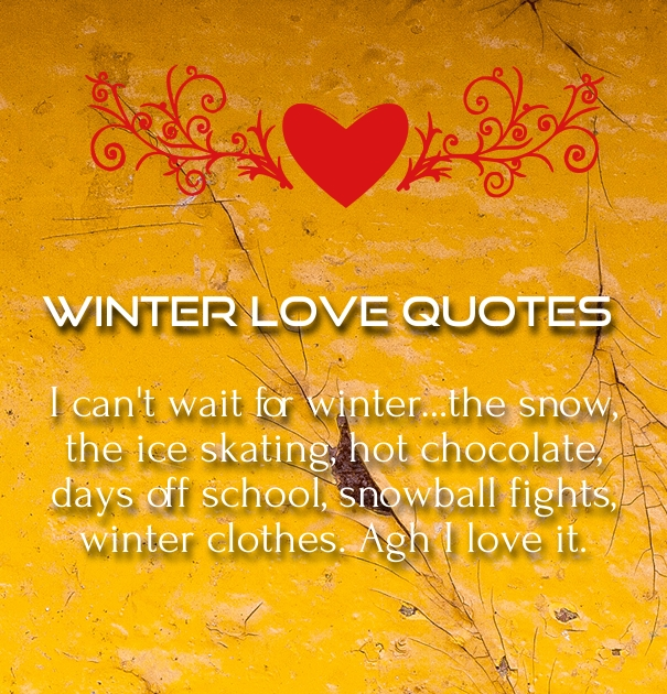 Winter Love Quotes & Poems for Romantic December - Hug2Love