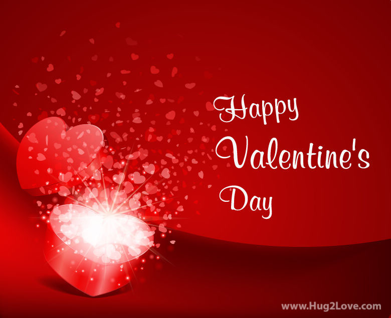 Happy Valentine's Day Greeting Card Vector