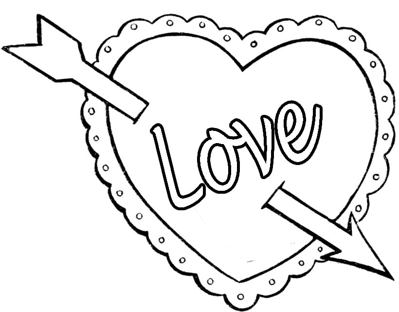 best valentines day coloring pictures printables - Valentine Coloring Sheets