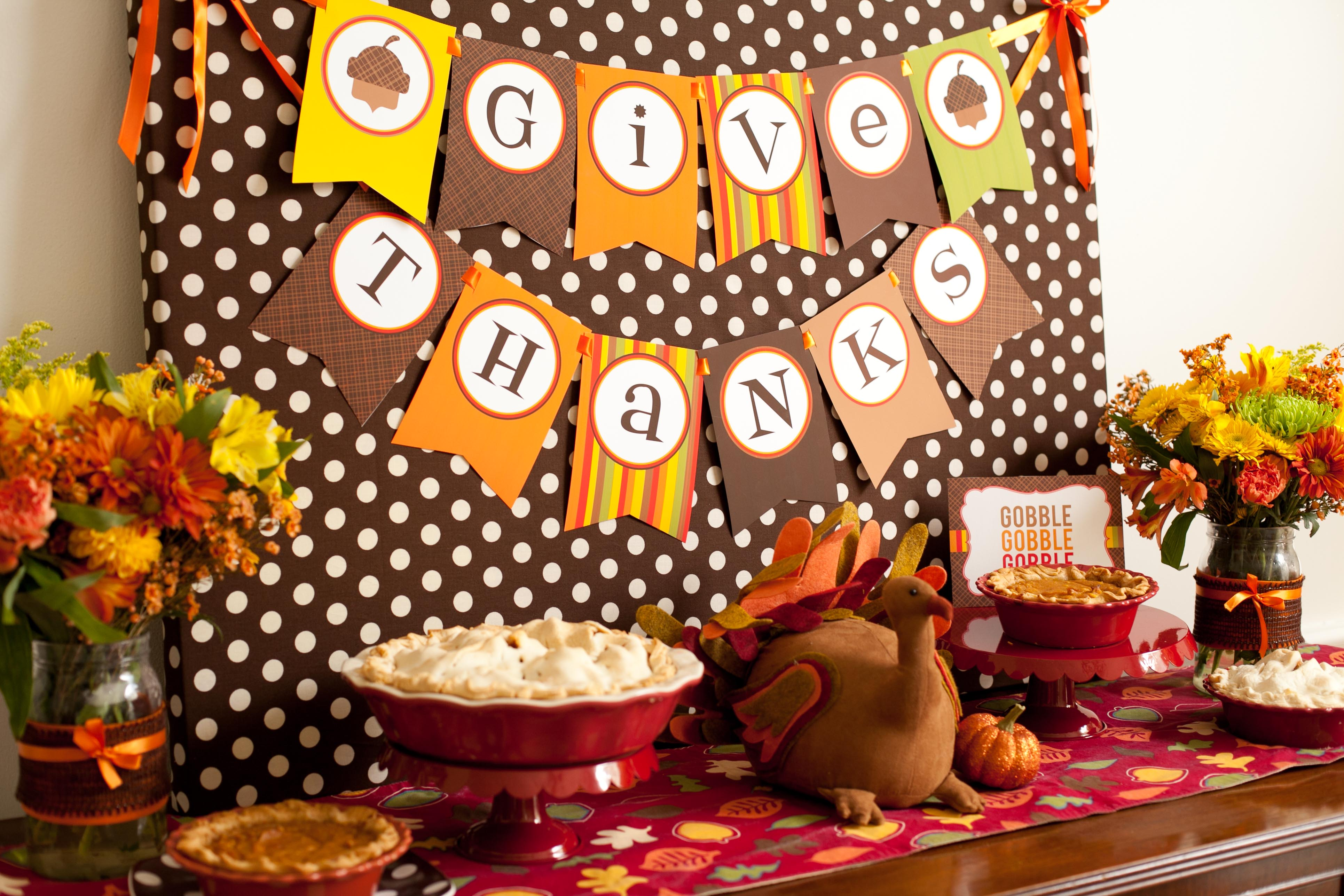 purple thanksgiving decorating ideas