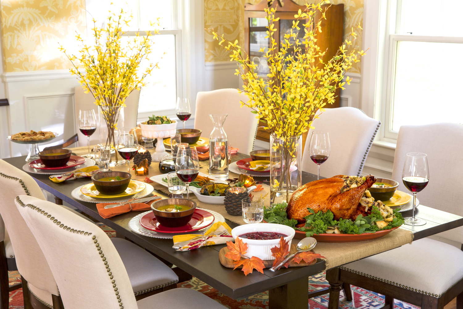 6 cutest thanksgiving table decoration ideas hug2love for Table decoration ideas