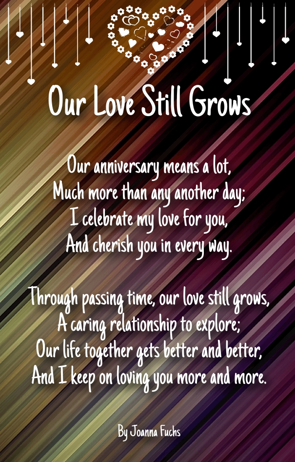 wedding anniversary poems for him