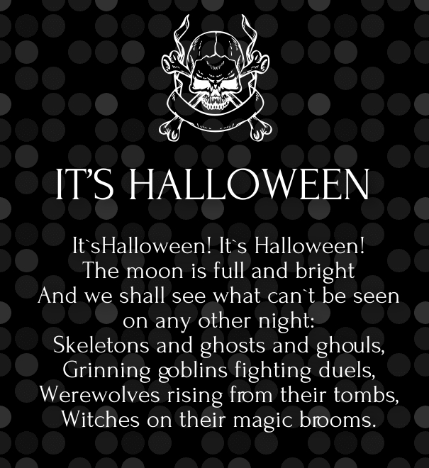 halloween friendship poems