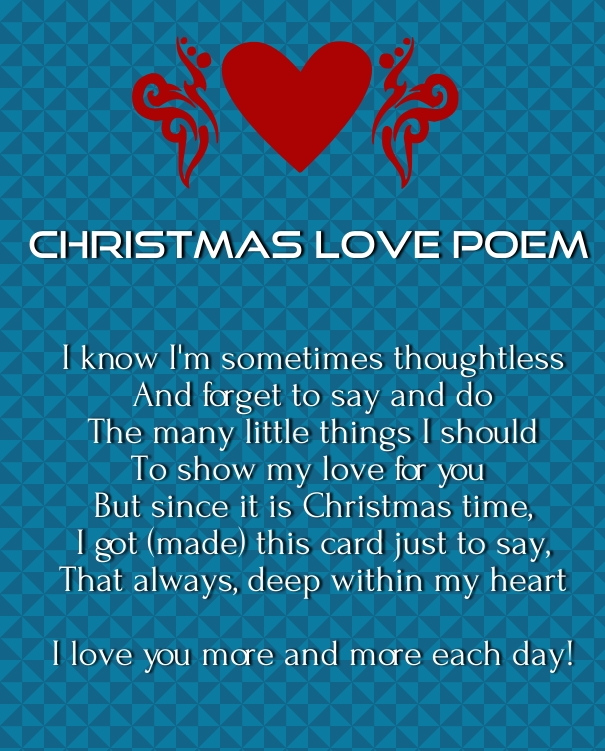 merry Xmas love poems 2015