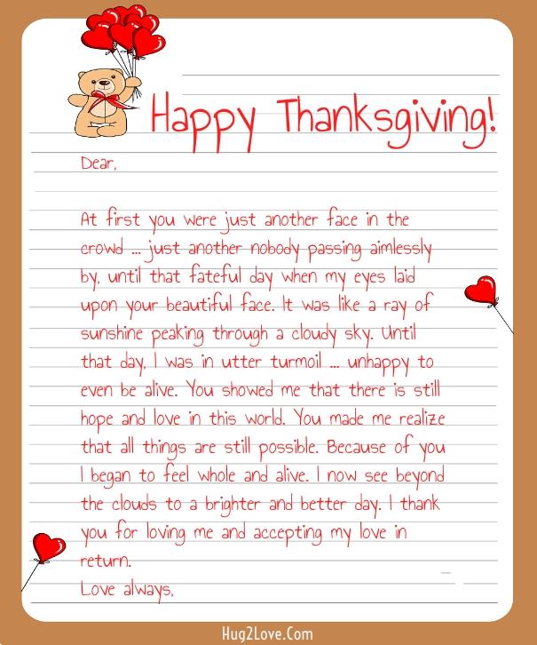 Thanksgiving Love Letter for Her
