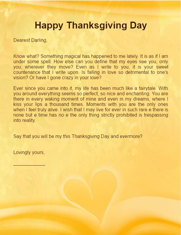 6 Happy Thanksgiving Love Letters Hug2love