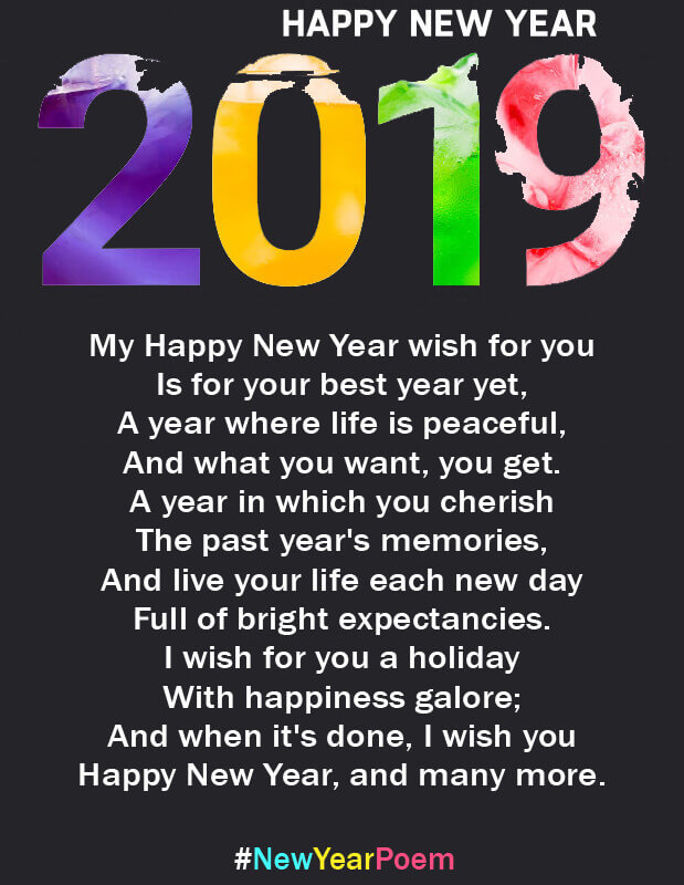 15 Happy New Year 2019 Romantic Poems With Pics Hug2love