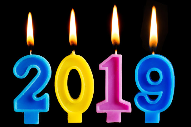2019 Happy New Year Candles