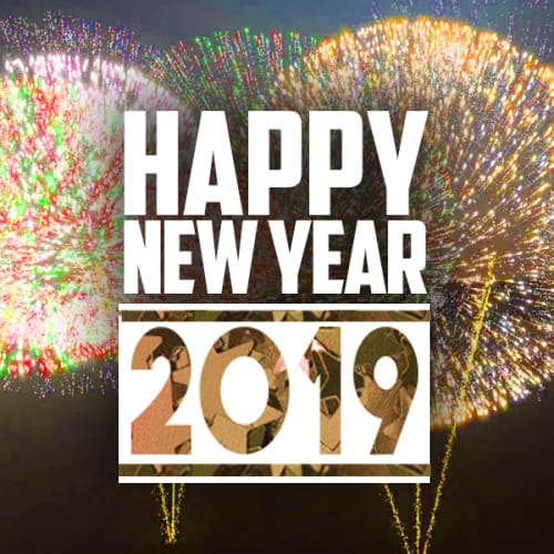 2019 Happy New Year Greeting Card Images