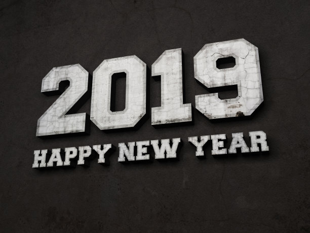 Blakc And White New Year 2019 Wallpaper