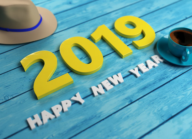Coolest Happy New Year 2019 Background