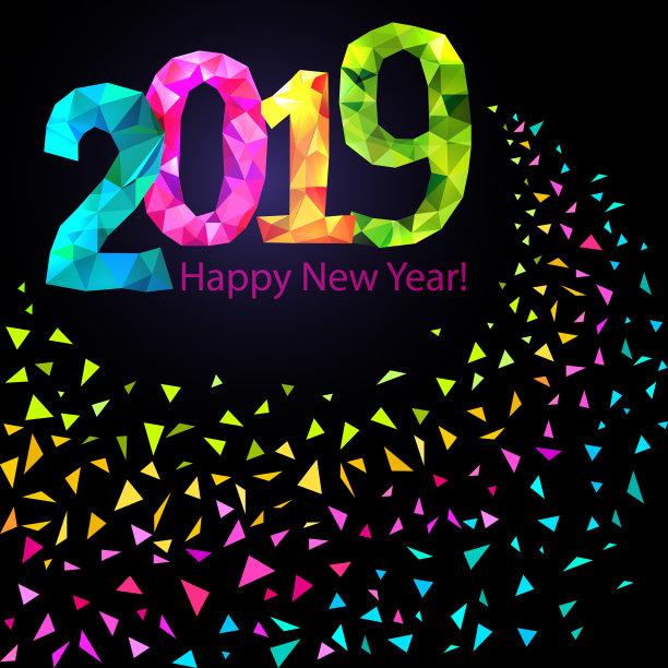 Happy New Year 2019 Background Image