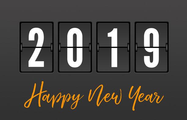 Happy New Year 2019 Stylish Clock Pic