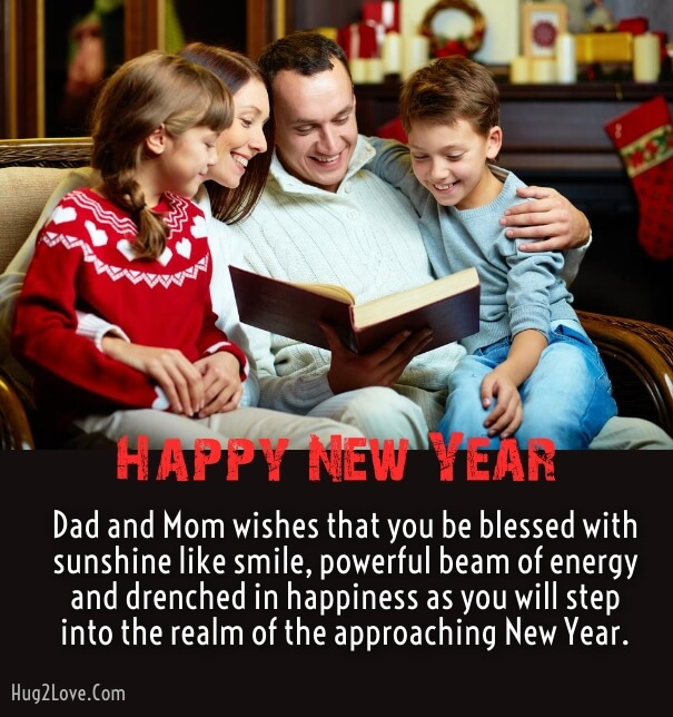 happy new year wishes messages for son