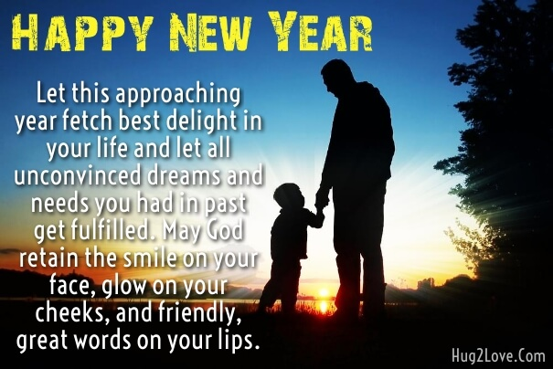 Happy New Year Wishes To My Son From Dad