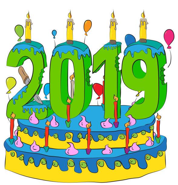 New Year 2019 Cake Wallpaper Hd