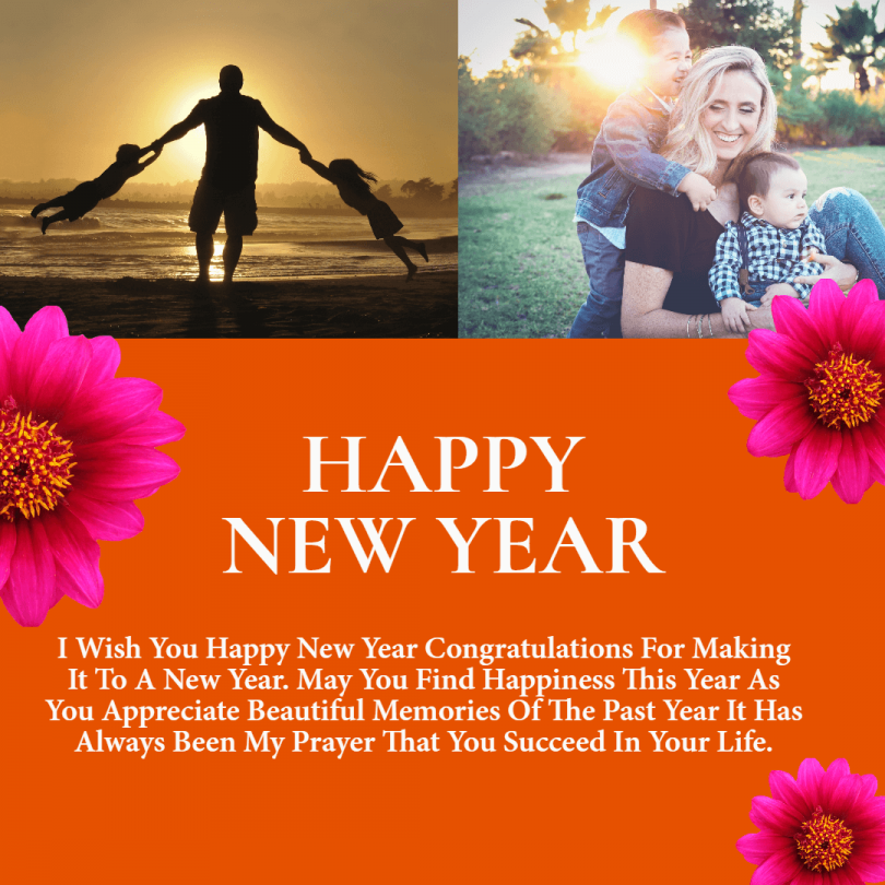 new year greeting card for son