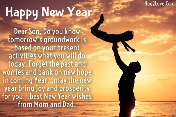 new year wishes quotes for son from father