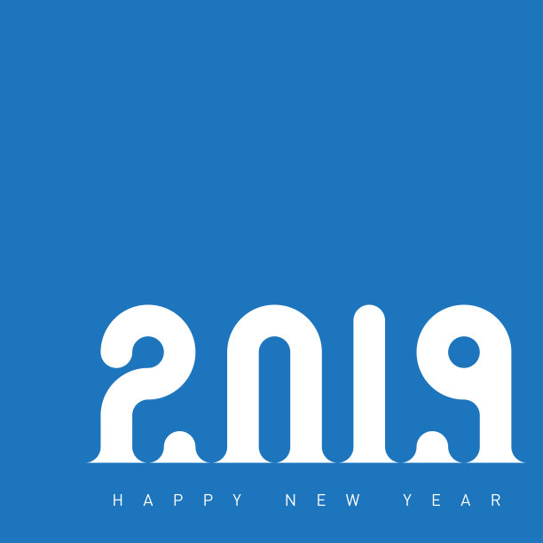 New Year Blue Wallpaper 2019 Wishes