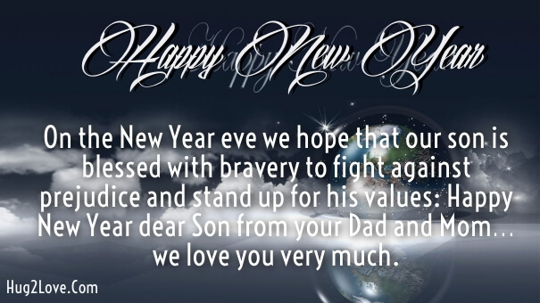Son In Law New Year Wishes Quotes Image